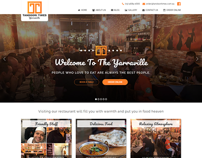 Tandoori Times Website Design and Development