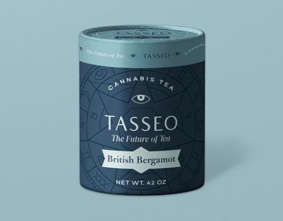 Tasseo cannabis tea branding and packaging