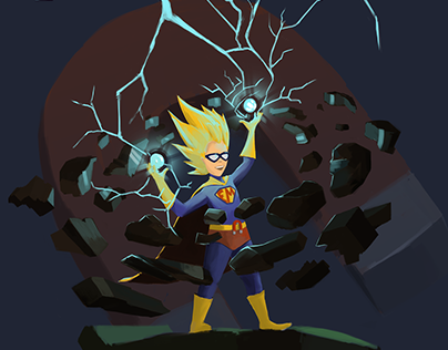 CuriosityLab | Illustartion, ElectroMagnetic Kid.