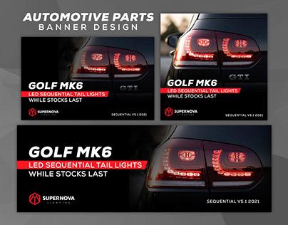 Automotive Parts - Banner Design