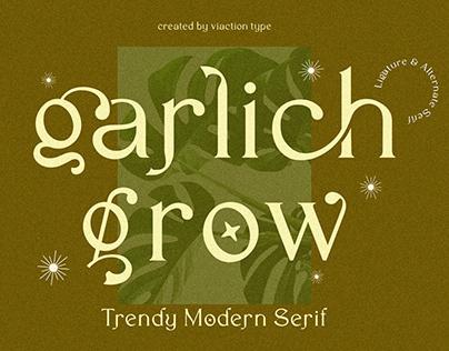 FREE FONT - Garlich Grow