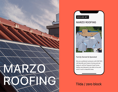 Marzo Roofing Website