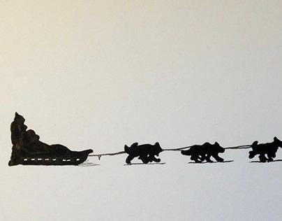 'Dog Team' Illustration from 'Native Born Son'