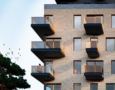 Residential building tower in Saint-Petersburg