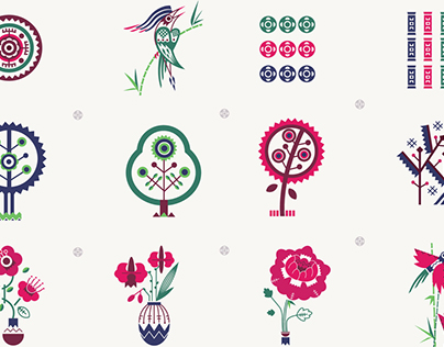 graphics for the Mahjong game. Signs design