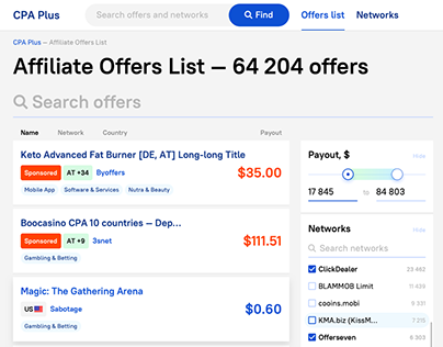 Affiliate offers searcher