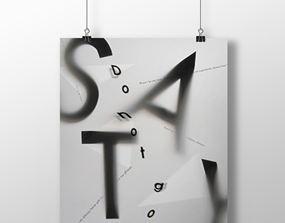 Typography Poster and Miniature Book of Interstellar