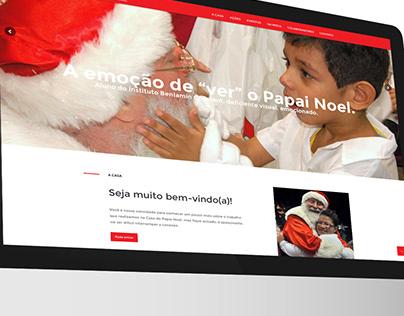 Site institucional INSTITUTO CASA DO PAPAI NOEL