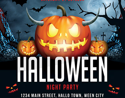 Halloween Flyer/ Banner Template