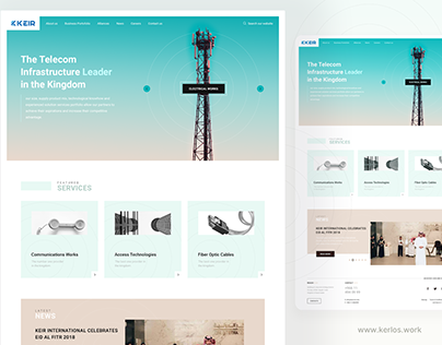 Keir Homepage - Corporate Design