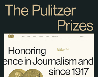 The Pulitzer Prizes site redesign