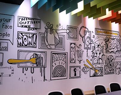 Fork Media Wall Murals