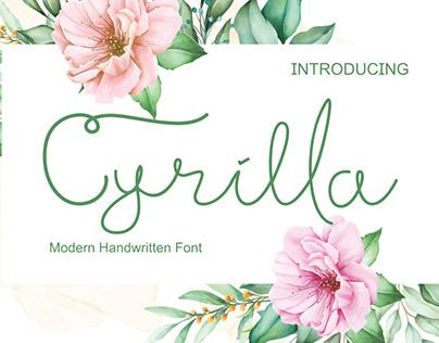 Cyrilla (Modern Handwritten Font)