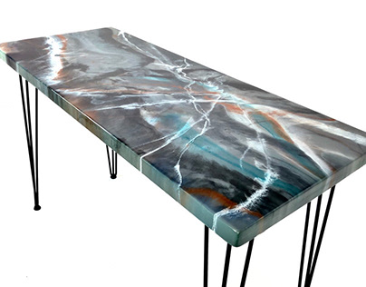 Custom Epoxy Desk