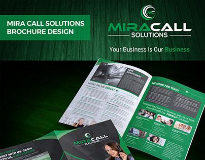 """""""Mira Call Solutions"""" Brochure Design"""