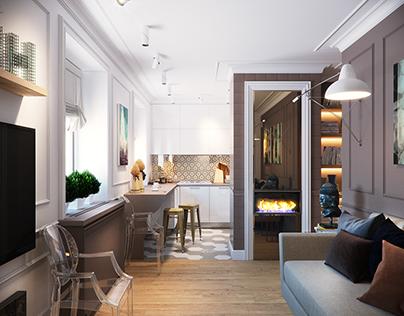 Interior apartments in Saint Petersburg.
