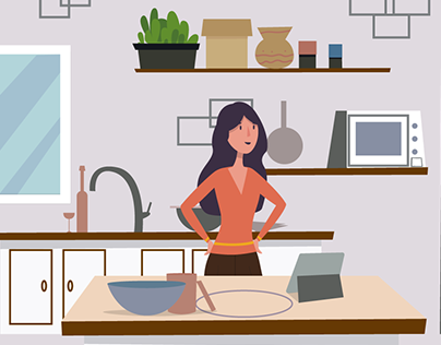 Cooking Healthy Food- animation for Green Chef