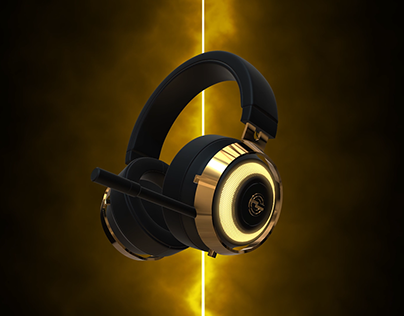 Golden for Music & Gaming Headset | Kherocreations