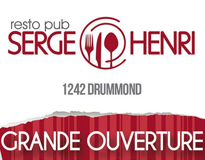Drafts for Serge Henri Resto Pub