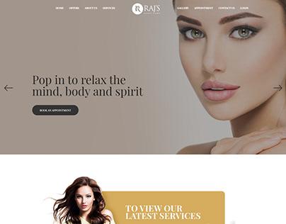 Web Design - Rajs Beauty Salon