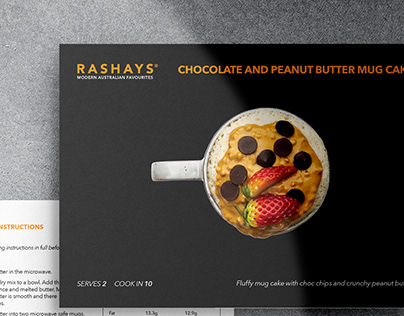 Rashays Meal Kits | Instruction Cards