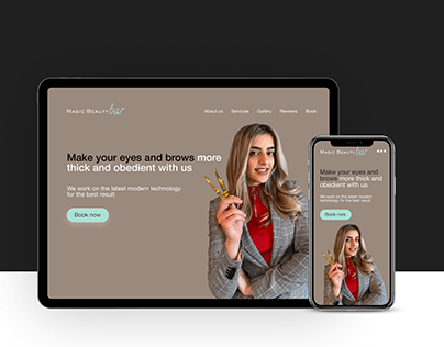 Landing page for beauty studio