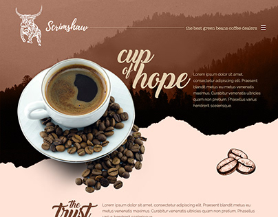 Scrimshaw Coffee Website UI Mockup