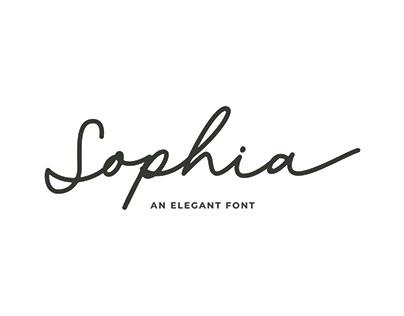 Sophia Script // A FREE FONT
