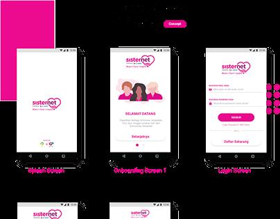 Sisternet Apps UI Design