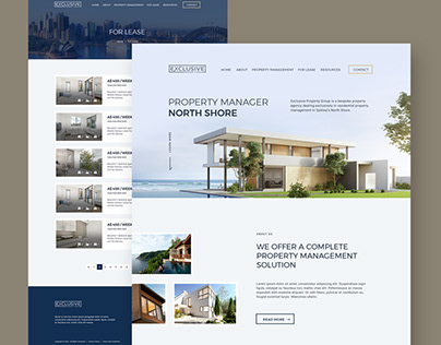 Exclusive Property - Property Management Website
