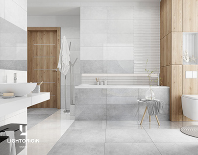CGI - Bathroom tiles by LIGHT ORIGIN