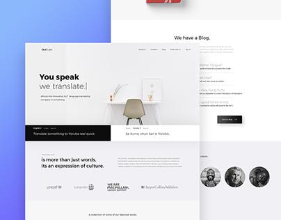 Oral Labs Web Design