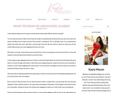 Kayla Moran Blog