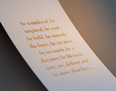 Be more than less — Greeting card