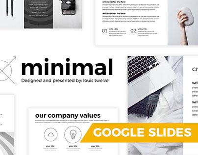 free minimal google slides template louis twelve on behance