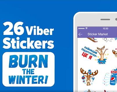 Pepsi Christmas sticker pack for Viber.