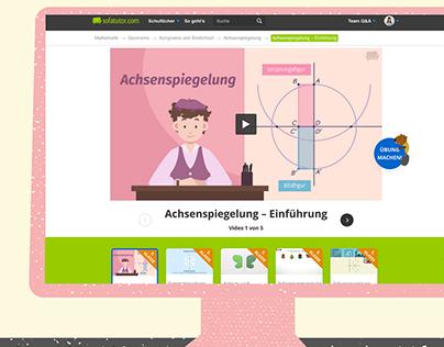Sofatutor - UX/UI Redesign Videopage
