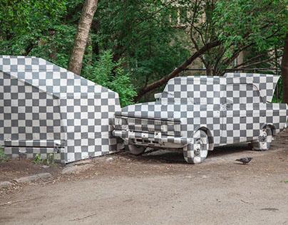 2d graffiti car