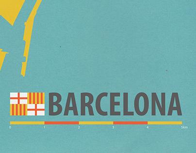Map Design - Barcelona -