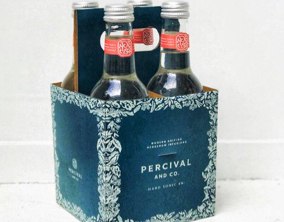 Percival and co hard tonic label design