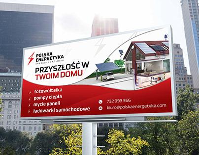 Solar panel billboard