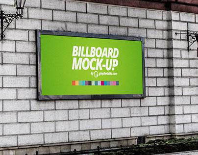 Free PSD Billboard mock-up 2