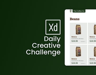 Adobe XD Design Challenge Day 7