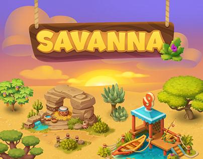 Wildscapes (Playrix) - Savanna Areal