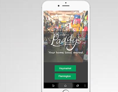 Paddy's market Mobile app