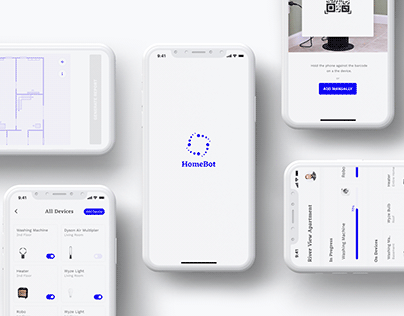 A smart home, UX/UI Case study | HomeBot