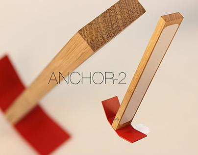 Faceted rolled desk LED lamp Anchor-2