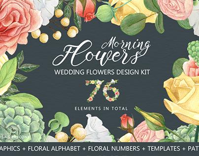 Wedding Graphics - Morning Flowers