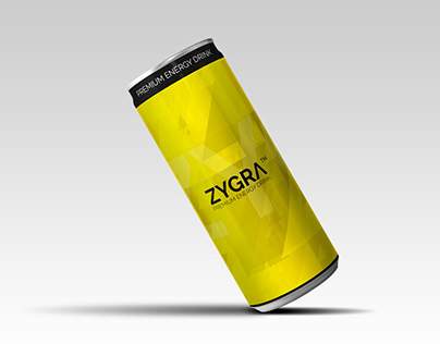 Zygra Energy Drink label design