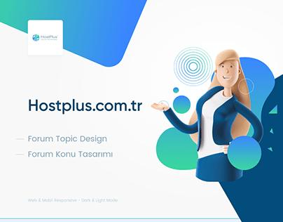 Hostplus Topic Design